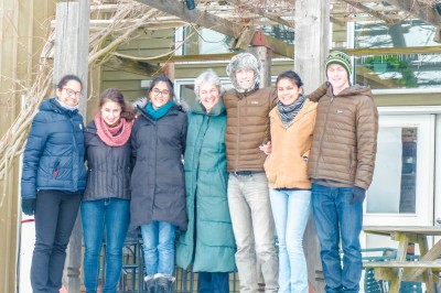 EcoVillage Cofounder Liz Walker with MAlt students Feb. 2014
