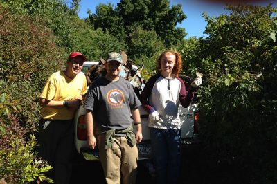 Young adults lead trek to dismantle car