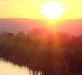 sunrise on pond