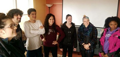 Visiting Potsdam Students (Jennifer is center with hands on hips)